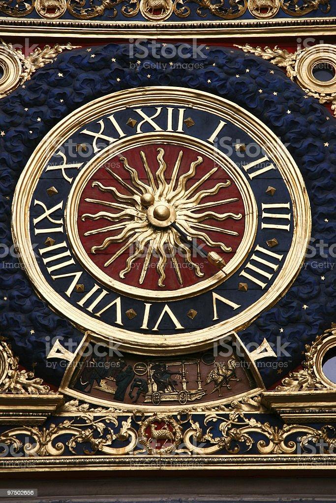 Rouen clock royalty-free stock photo