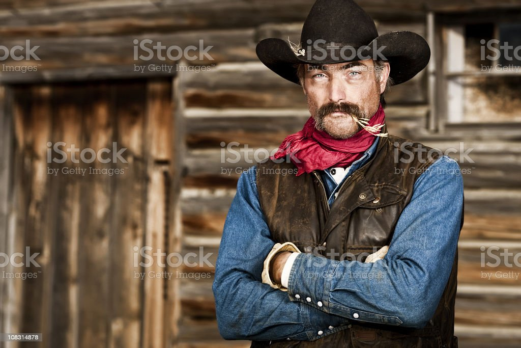Rough and Tough Rancher stock photo