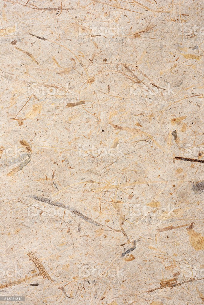 Rough beige rice paper texture background stock photo