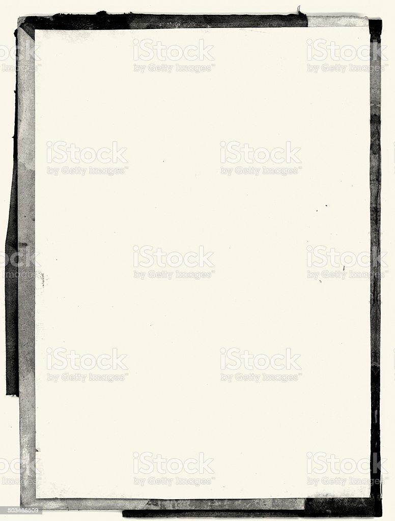Rough black border stock photo
