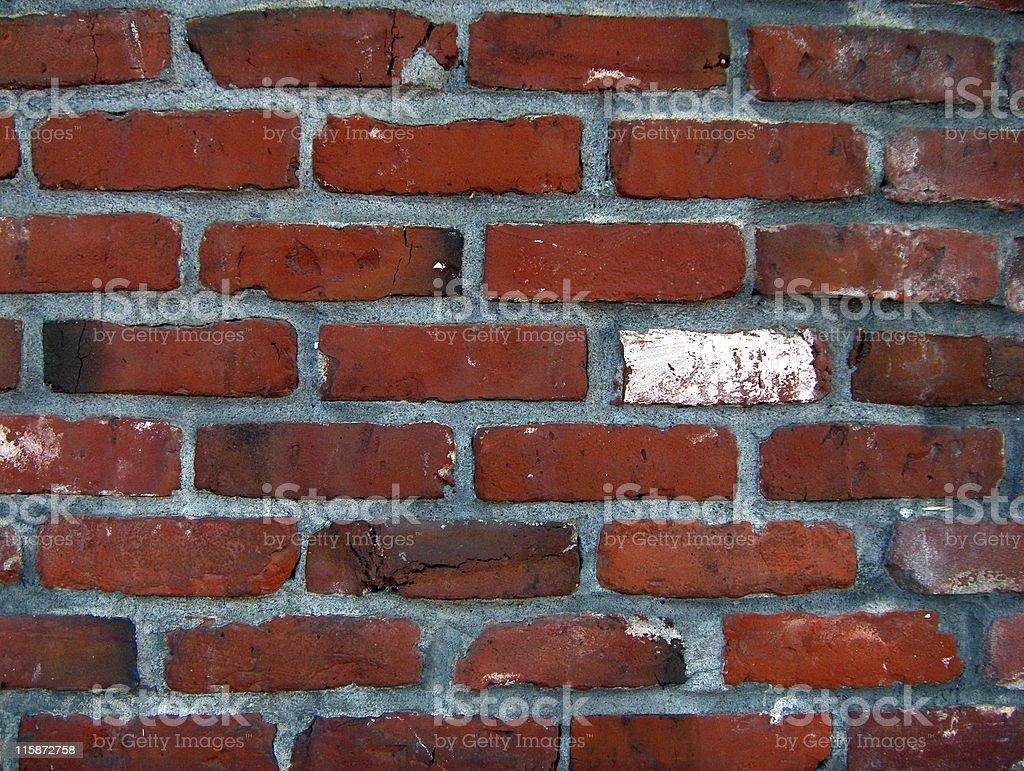 Rough Brick Wall royalty-free stock photo