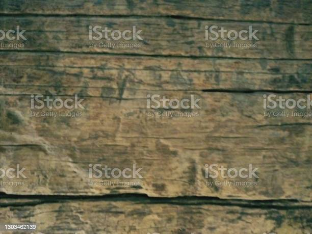 Photo of rough brown wooden log textured background patterns
