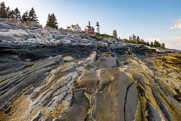 Raue Küste von Pemaquid Point, Bristol, Maine, USA – Foto
