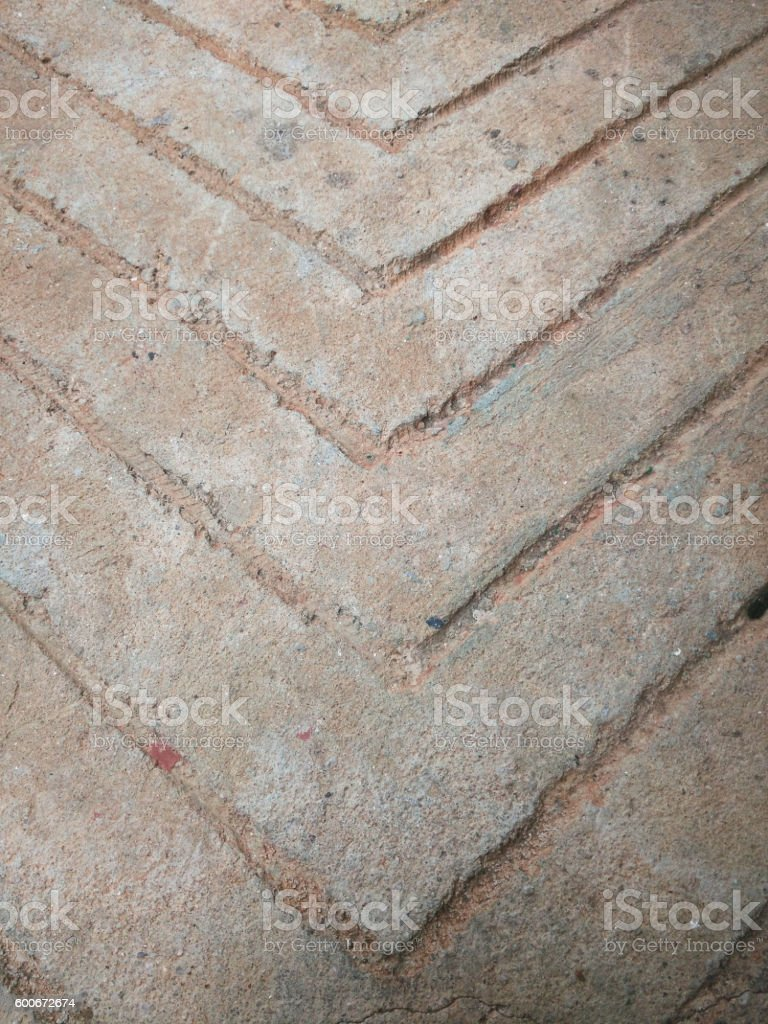 Rough Concrete Floor With Arrow Pattern Royalty Free Stock Photo
