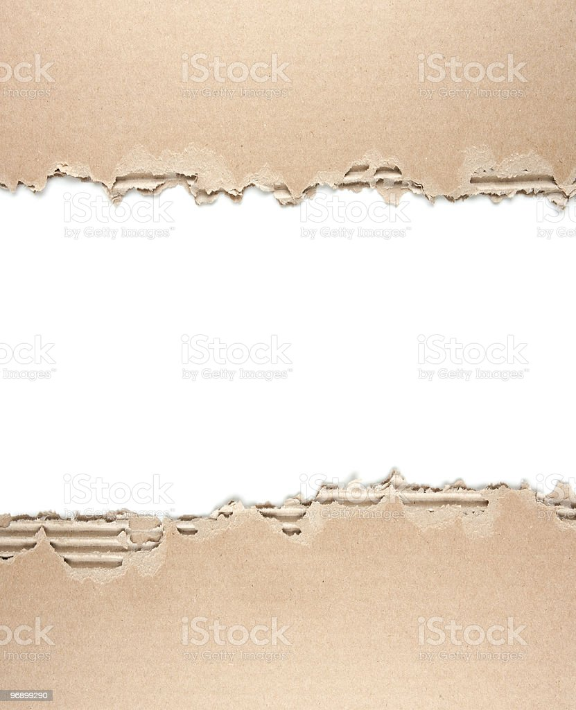 Rough Corrugated Cardboard royalty-free stock photo