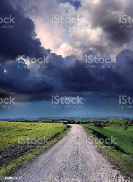 Photo of rough empty road to success