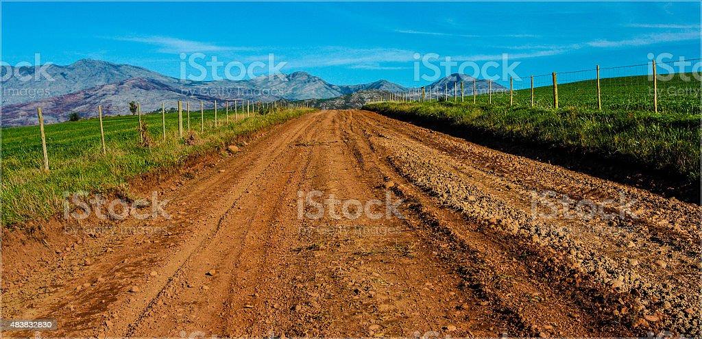 Rough Gravel road stock photo