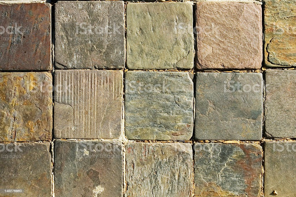 Rough Hand Cut Rock Tiles royalty-free stock photo
