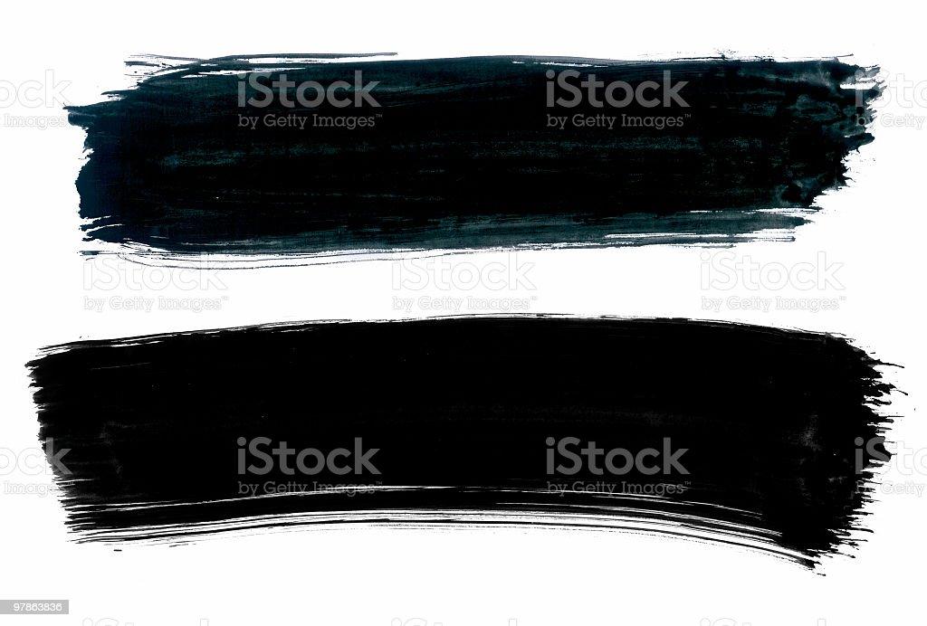 rough highlight paintbrush royalty-free stock photo