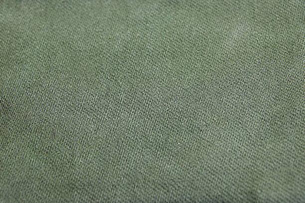 Rough Khaki Military Textile Or Pattern Background stock photo
