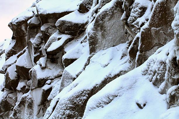 Rough Mountain in Snow stock photo