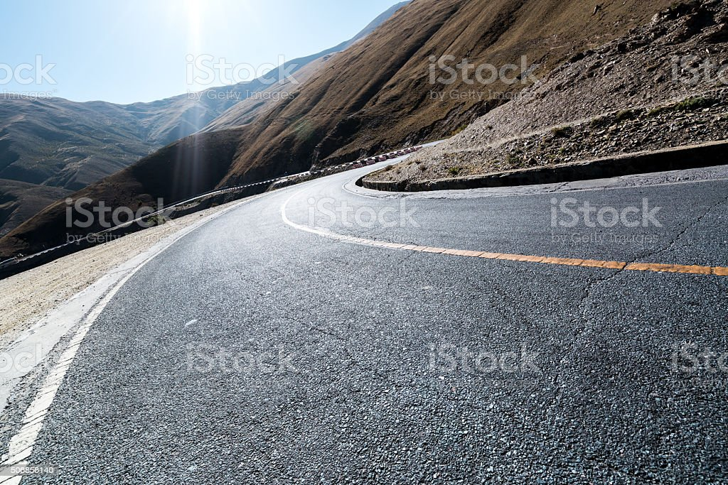 rough mountain road stock photo