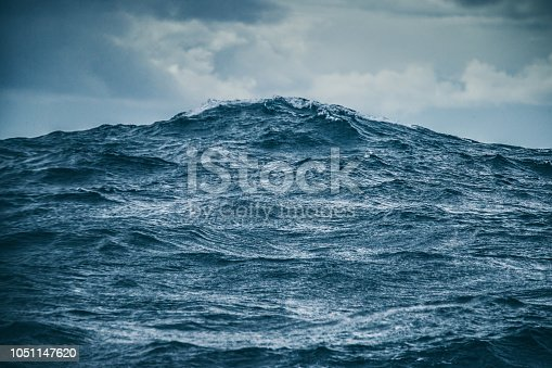 Rough ocean details: sea waves pattern