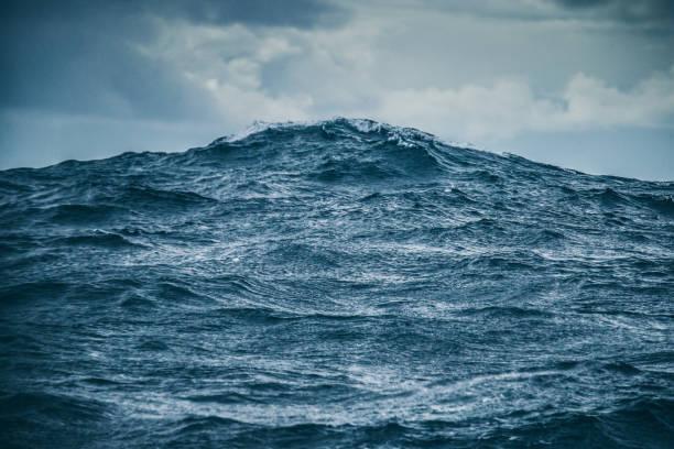 거친 바다 세부 사항: 바다 파도 패턴 - 바다 뉴스 사진 이미지