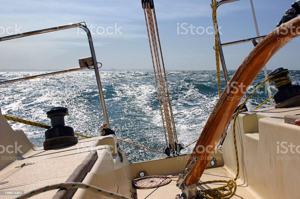 Rough ocean sea sailing stock photo