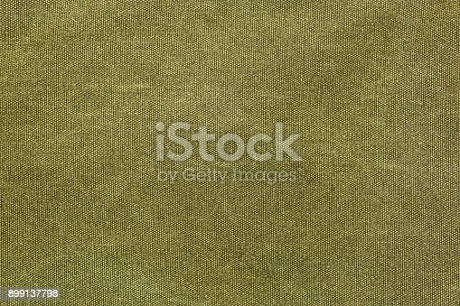 istock Rough olive canvas texture 899137798
