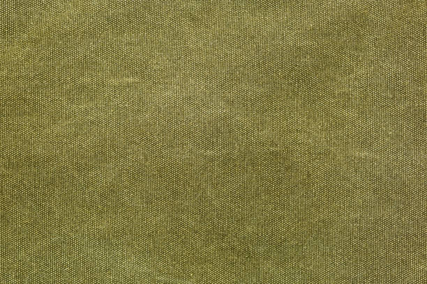 Rough olive canvas texture stock photo