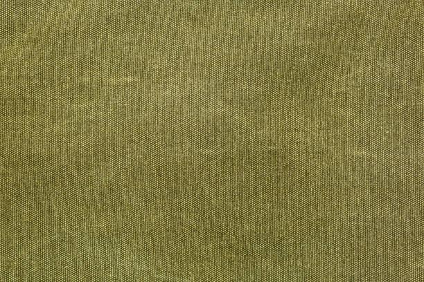 rough olive canvas texture - lona têxtil imagens e fotografias de stock