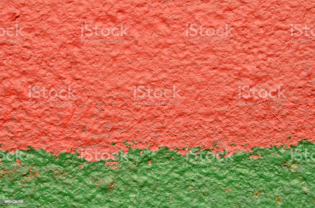 Vermelha, verde pintura em metal em bruto - Foto de stock de Antigo royalty-free