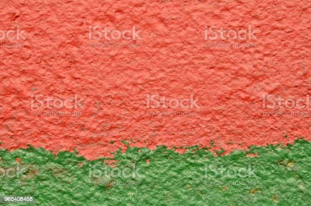 Foto de Vermelha Verde Pintura Em Metal Em Bruto e mais fotos de stock de Antigo