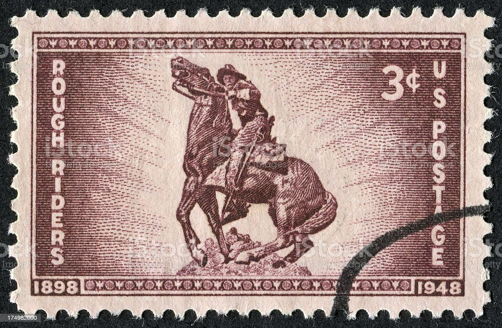 Rough Riders Stamp royalty-free stock photo