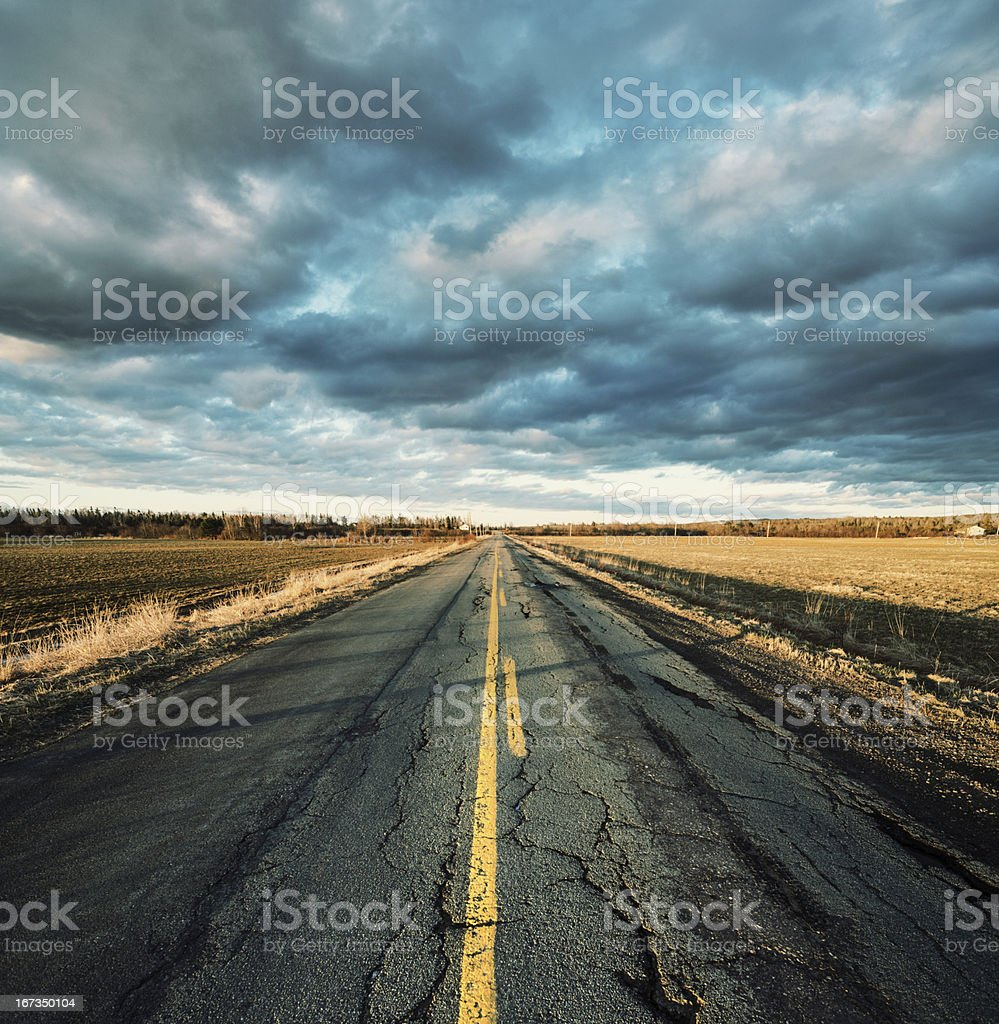 Rough Rural Road royalty-free stock photo