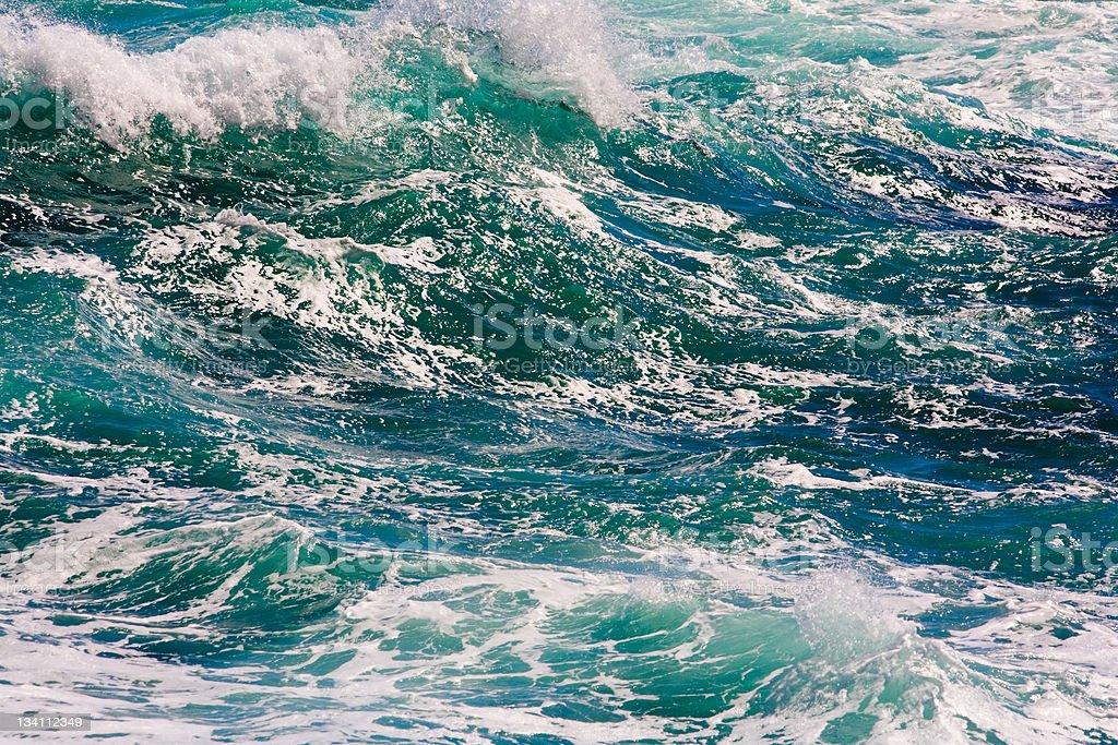 Rough sea background #1 stock photo