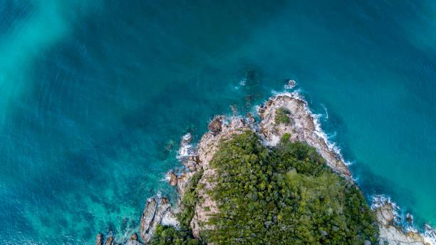 Rough sea, Malaysia stock photo