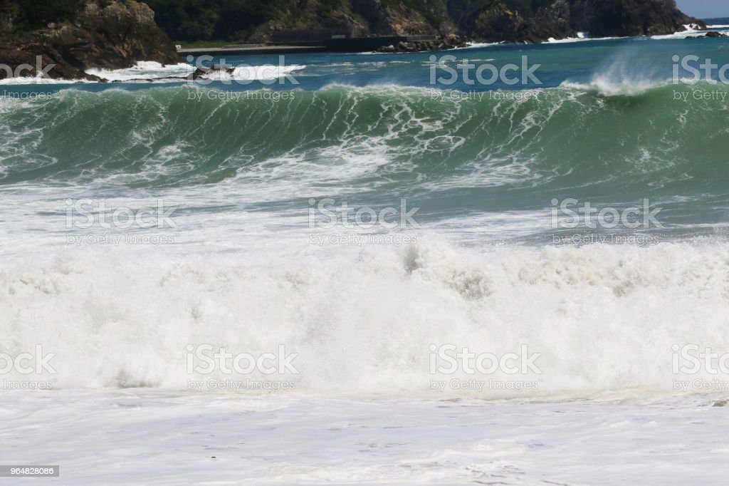 Rough sea royalty-free stock photo