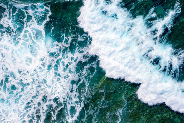 kayalık bir deniz dibi yakın sıçramak kaba denize dalgalar - dalga stok fotoğraflar ve resimler