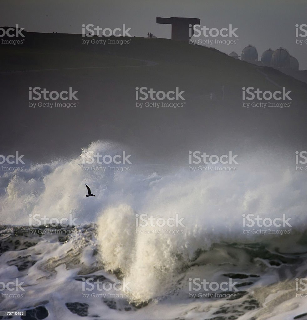 rough seas landscape stock photo