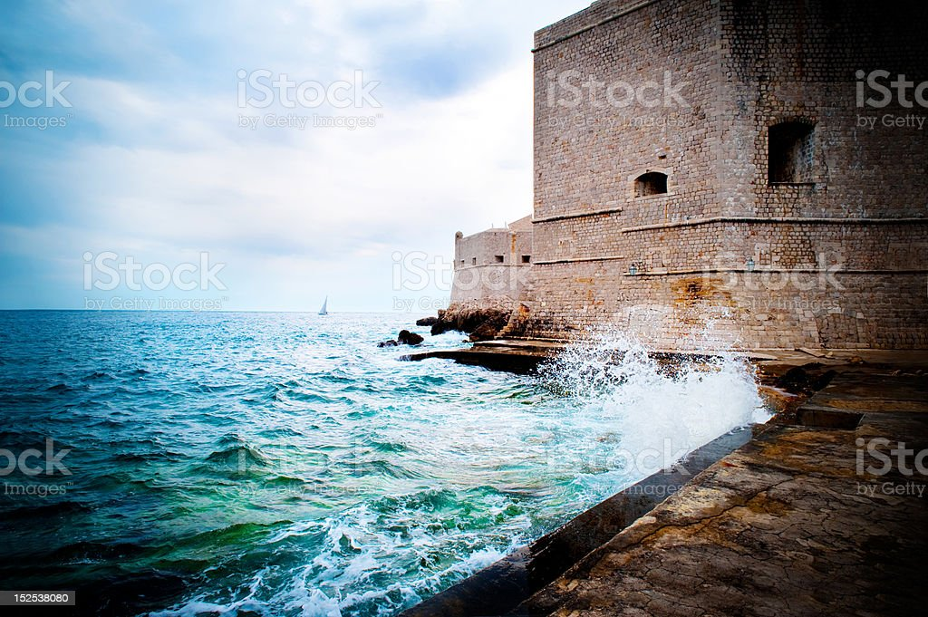 rough seas royalty-free stock photo