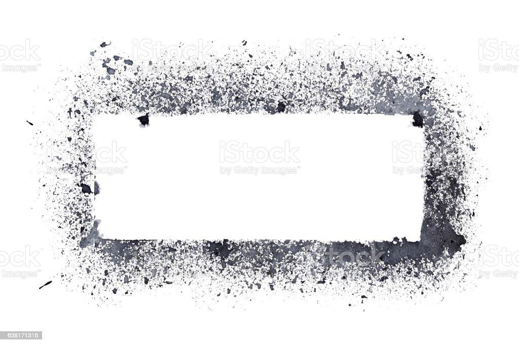 Rough stencil frame stock photo