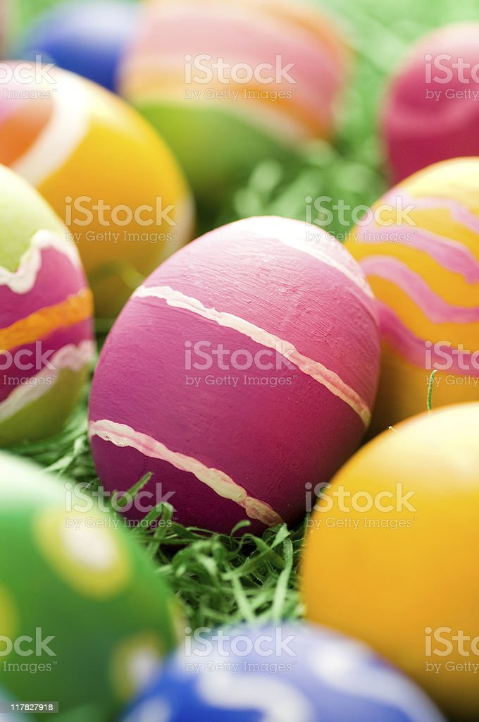 Rough stroked easter eggs royalty-free stock photo