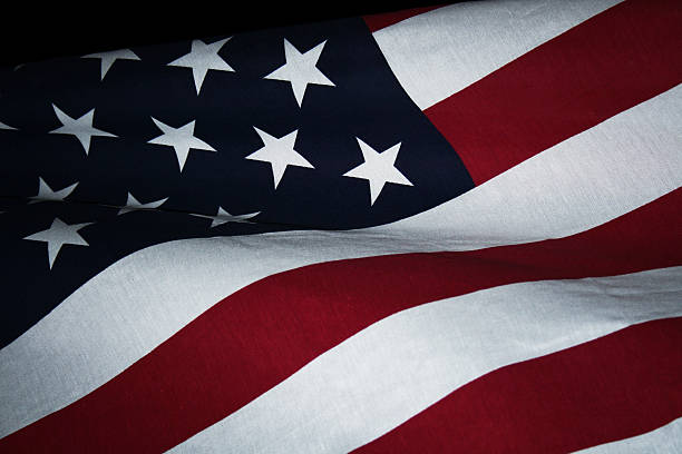 Rough Textured USA American Flag Background stock photo