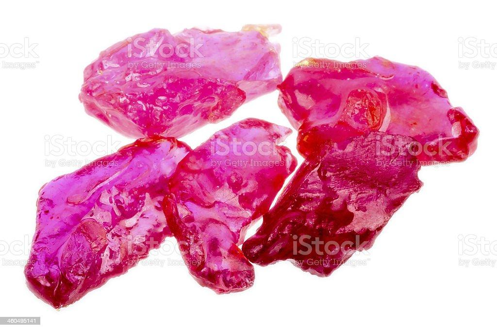 Rough uncut ruby gemstone stock photo