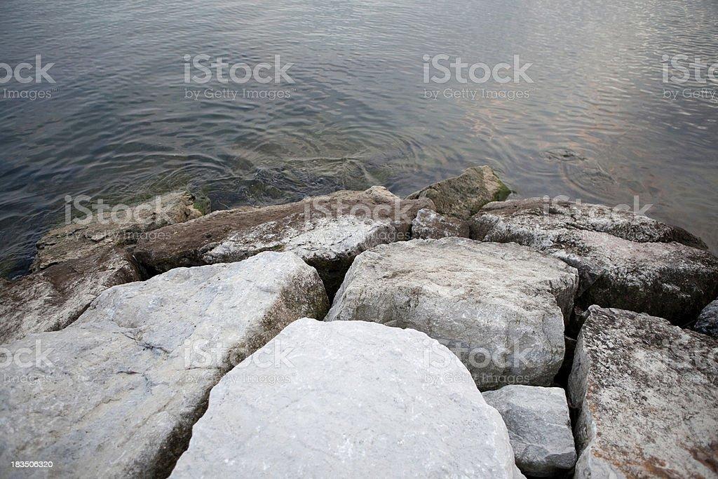 rough water's edge royalty-free stock photo