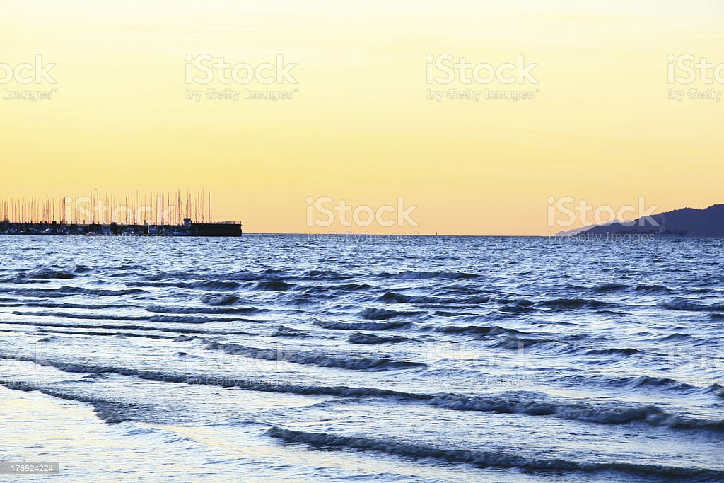 Rough Waves royalty-free stock photo