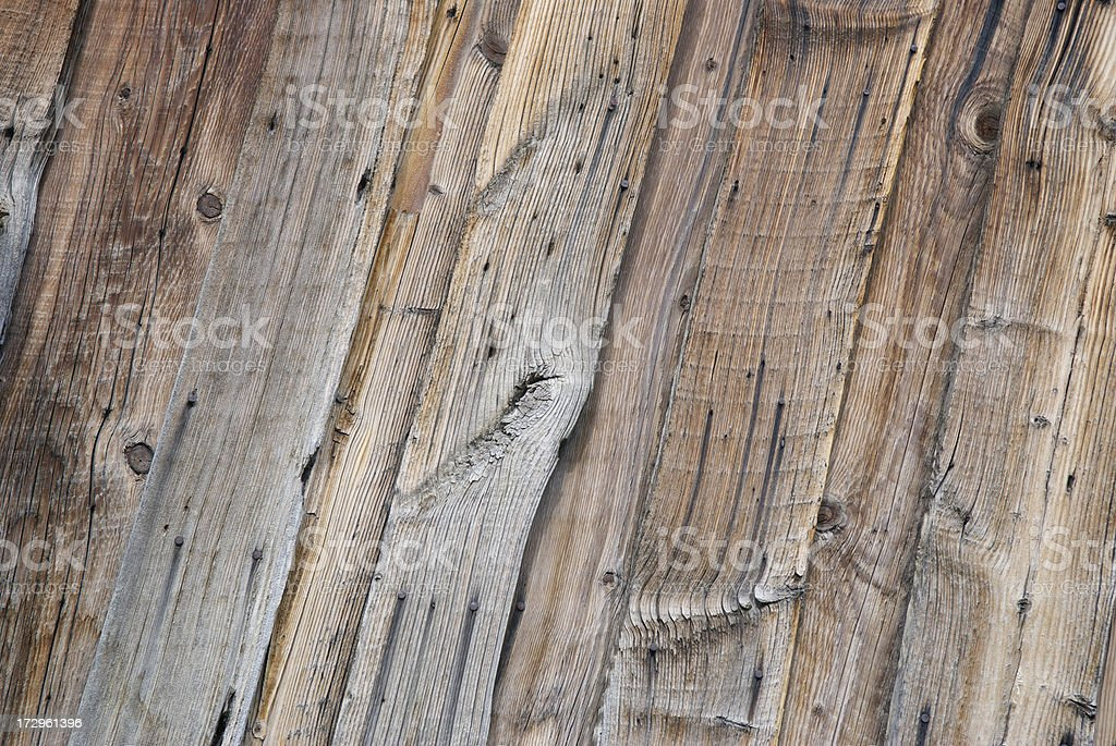 Rough Weathered Wood Wall Background royalty-free stock photo