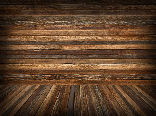 Rough wood background and texture with space. stock photo