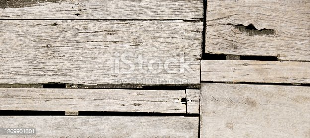Old rough wood board. Banner background texture