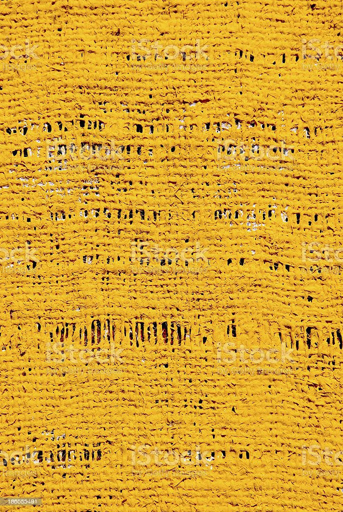 rough yelow acrylic painted cloth background royalty-free stock photo