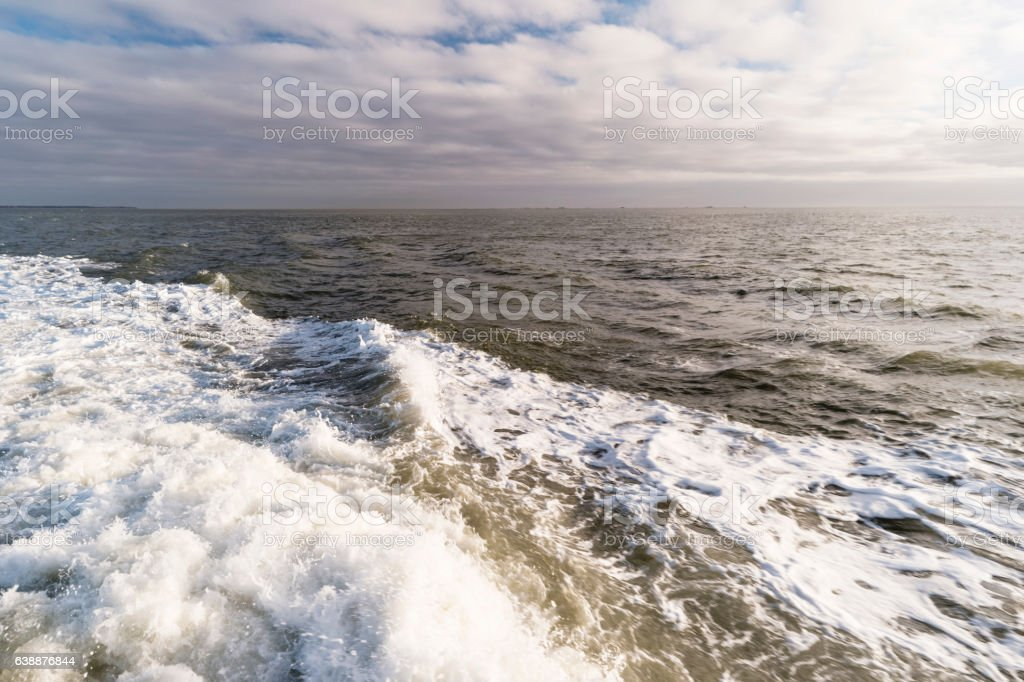 Roughened water in the North Sea stock photo
