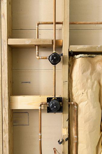 Szorstka W Instalacja Wodnokanalizacyjna W łazience Projektu
