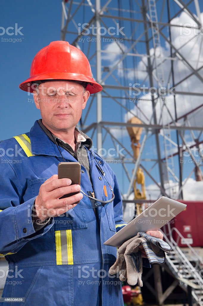 Roughneck and Technology stock photo