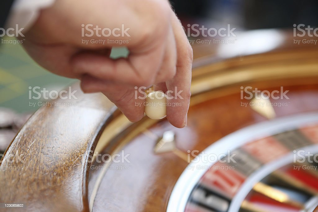 Roulette action stock photo