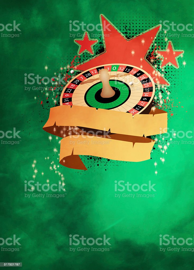 Roulette background stock photo