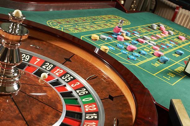 Roulette casino stock photo