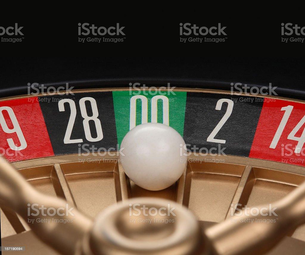 Roulette Double Zeros stock photo