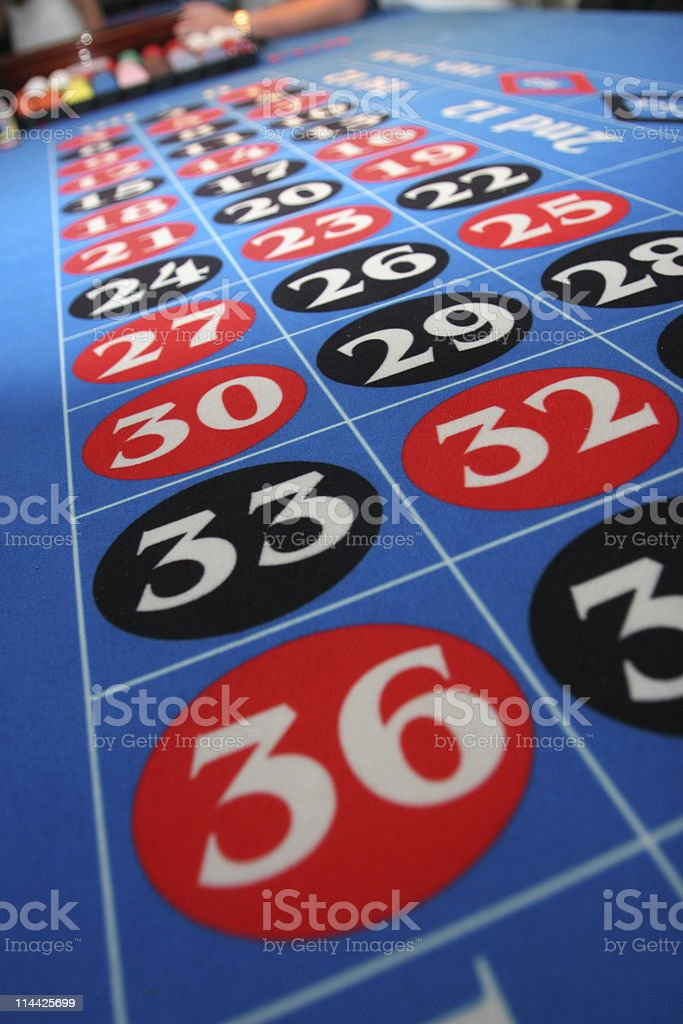 Roulette in a casino royalty-free stock photo
